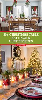 49 Best Christmas Table Settings - Decorations and Centerpiece ...