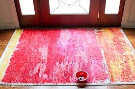 painting rug with acrylic paint
