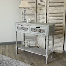 telephone console table. grey 2 drawer console table - milan range telephone