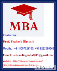 Everything Else - Mba Project Report Services For Symbiosis Centr