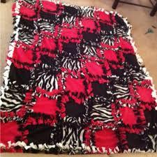 26 best DIY blankets images on Pinterest | 21st birthday, Camo and ... & Fleece tie patchwork blanket-pink, black, zebra print Adamdwight.com