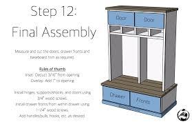 diy mud room locker plans step 12 mudroom locker plans diy d52 plans