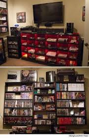 video gaming room furniture. video game console collection beautifully displayed gaming room furniture v
