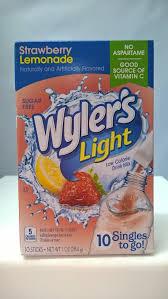 Wyler S Light Strawberry Lemonade Ingredients Wylers Light Strawberry Lemonade Singles To Go Drink Mix 10 Stix 28 4g