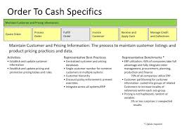 Order To Cash Specificsmaintain Customer And Pricing