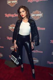 olivia culpo attends the harley davidson celebrates black label collection