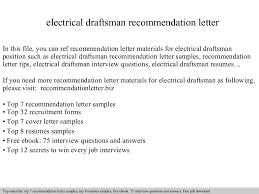 electrical draftsman recommendation letter draftsman cover letter