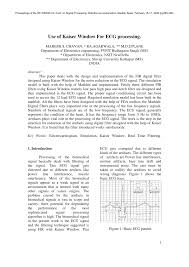 Matlab Code For Fir Filter Design Using Rectangular Window Pdf Use Of Kaiser Window For Ecg Processing