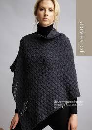Poncho Patterns Delectable Jo Sharp Asymmetric Poncho Pattern Knitting Pattern Halcyon Yarn