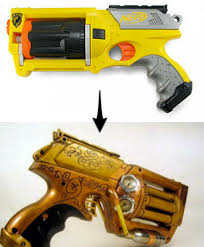 How To: Convert a Nerf Gun to Steampunk (full tutorial: http:/