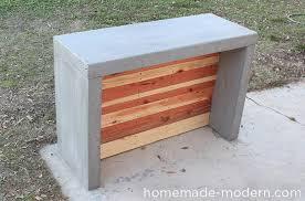 homemade modern diy concrete bar options