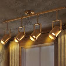 vintage track lighting. Image Is Loading Vintage-Industrial-Ceiling-Lamp-Gold-Finish-Track-Lighting- Vintage Track Lighting G