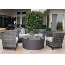 the incredible inspiration patio furniture fire pit table set la danta intended for prepare wicker fire pit r17