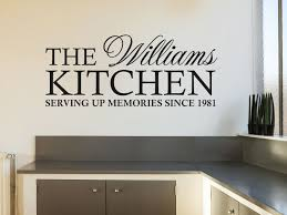 personalised family kitchen wall art e wall sticker decal