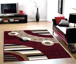 4 by 5 rug 5 x 4 rug red color modern circles design area rug 5