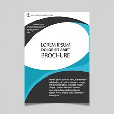 White Brochure Blue Black And White Brochure With Circular Shapes Vector Free