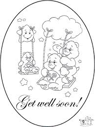 Small Picture Care bears get well soon coloring pages ColoringStar