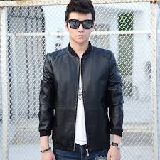 2018 whole 2017 new men leather jacket fur stand collar motorcycle jaqueta masculinas jacket mens fashion casual jackets leather coat tops from baiqian