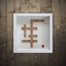 Scrabble Wall Tiles Personalised Scrabble Art Irish Wall Art By Wordbirdie
