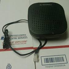 speakers microphones accessories commercial radios mro genuine oem motorola hsn4038a mobile external radio speaker
