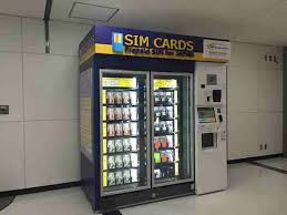 Kansai Airport Sim Card Vending Machine Enchanting SIM Card Vending Machines Only In Japan