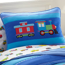 train pillow sham sheet set
