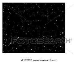 夜 星が多い空 クリップアート切り張りイラスト絵画集