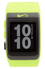 nike sport watch gps in yellow for men lyst gallery