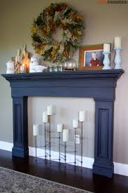 diy faux fireplace surround plans rogue engineer 2