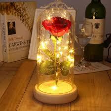 Enchanted Led Rose Light Enchanted Forever Rose Lamp