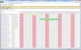 Attendance Tracker Free Equipment Tracking Spreadsheet For Employee Attendance Template F