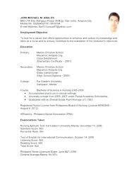 Sample Curriculum Vitae For Job Application Curriculum Vitae Template For Job Application Resume Sample Example