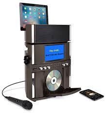 akai ks800 bt bluetooth cd g karaoke system with usb playback recording and 7 color display walmart