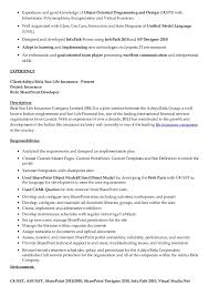 Sharepoint Developer Resume Gorgeous Sharepoint Experience In Resume Unique Point Resume Resume Ideas