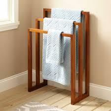 Towel Hanger 24 Layla Teak Towel Hanger With 3 Levels Bathroom