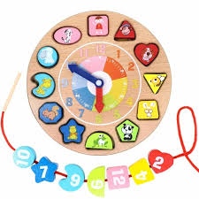 Making Wooden Games Wooden Educational Toys Shapes Sorting Teaching Clock Lacing Beads 79