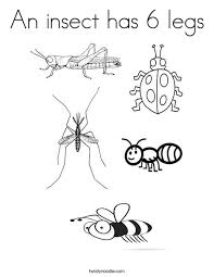 Free printable butterfly coloring pages for kids. An Insect Has 6 Legs Coloring Page Twisty Noodle