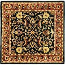 6x6 square rugs heritage black red 6 ft x 6 ft square area rug square rugs