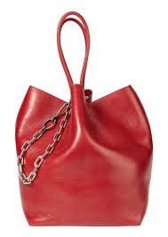 alexander roxy large red leather tote