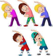 Kids Exercising Stock Illustrations – 929 Kids Exercising Stock  Illustrations, Vectors & Clipart - Dreamstime