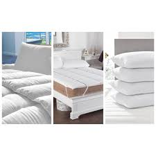 anti allergy duvet topper and 4 pillows bundle offer