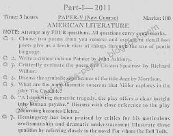 american literature paper v part i old solved and guess papers 2011 american literature