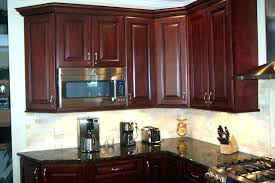 N Mahogany Kitchen Cabinets  For Sale With Granite