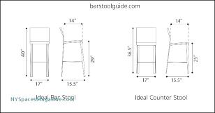 Bar Stool Size Chart Bar Stool Sizes Bar Chair Spacing Concrete Average Bar Stool