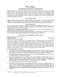 Sample Senior Budget Analyst Resume Template Federal Government