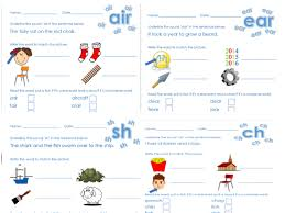 Worksheet for (very) young learners who have just started reading. Phonics Phase 3 Worksheet Pack Teaching Resources