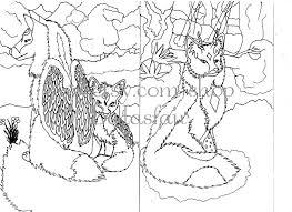 Kleurplaat Kleurplaat Wolf Wolven Etsy