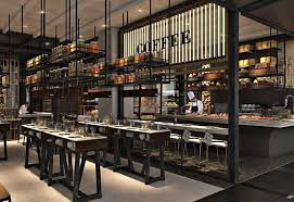 Concept Open Restaurant Kitchen Designs Trend In Layout Recent Years Has Been Throughout Beautiful Design