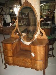 antique vanity set furniture. oak drop center dresser antique vanity set furniture k