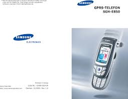 Samsung E850 German SGH ...